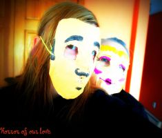 Horror Of Our Love Masks 1 by AquaNature10