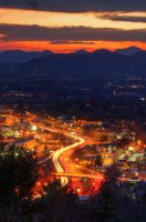 Asheville from The Top by espressobsessrepress