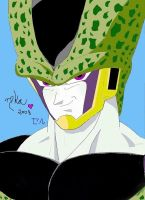 Perfect Cell drawing by SeruHiKaMi
