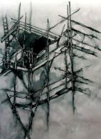 Urban Ink Study: Scaffolding by SCIFIJACKRABBIT