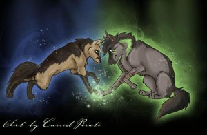 Blue and Inu by abosz007
