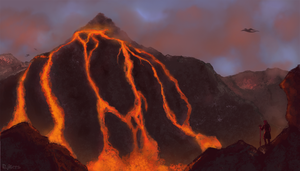 Environment study: Red Mountain by R-Aters
