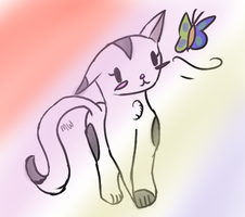 Cat and Butterfly by PonyPocky317
