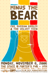 Minus the Bear concert poster by chapolito