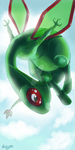 Flygon.Contestentry by LittleMeroko-chan