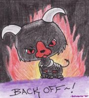 Houndoom - BACK OFF by Boltonartist