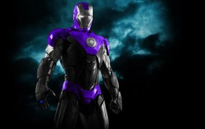 Iron Man Indigo Lantern Armor by 666Darks