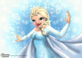 Ice queen Elsa from Diseny's Frozen by nime080