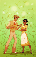 Tiana and Naveen by blackdragonkokoryu