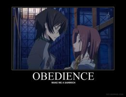 Demotivational: Obedience by d3pthcharge12
