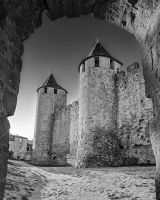 France - Carcassonne 06 - Two Towers by GiardQatar