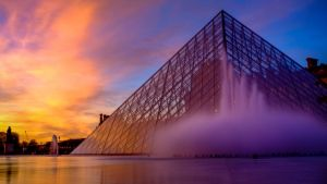 Louvre Pyramid by frishustyle