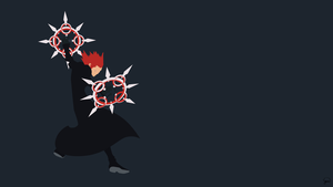 Axel (Kingdom Hearts) Minimalist Wallpaper by greenmapple17