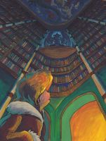 Inside the Library by LynxGriffin