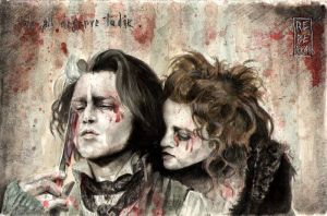 We All Deserve To Die: Sweeney Todd and Mrs Lovett by Shinigami-uta