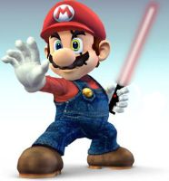 Mario with a Lightsaber by DAFORCEFilms