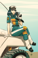 Patlabor Kanuka Clancy - Slot Commission by EryckWebbGraphics