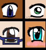 Some Of My Styles Of Anime Eyes by Ayleia-The-Kitty