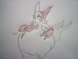 Fat female Zangoose by Rattiesteps