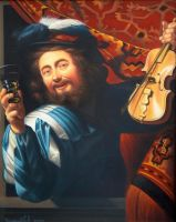 The cheerful violinist by uvar