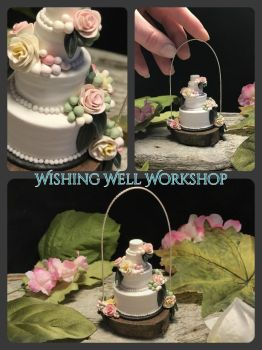 Polymer Clay Wedding Cake by missfinearts