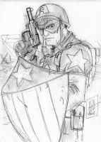Captain America pencils by scarecrowhassan