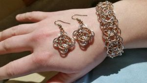 Chainmaille Clockwork weave by Katie-May-sews-stuff
