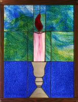 Candle in Stained Glass by CarolynYM