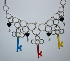diy: key necklace I by graviloquence