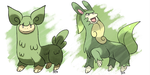 Grass Llamas Llameadow and Llamiac by Pokemon-Marchocias