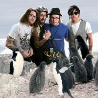 fall out boy with penguins by brokenhearts13