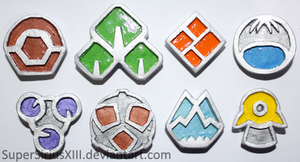 Sinnoh League badges by SuperSiriusXIII