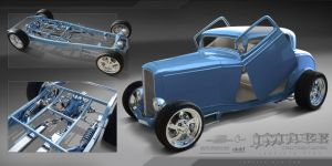 hot rod rendering by SurfaceNick