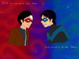 Jason Todd vs Dick Grayson by SenritsuKoe