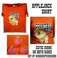 MLP_AppleJack_Shirt by wanabiEPICdesigns