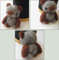 Little Felted Bear by hellohappycrafts