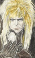 Jareth holding an egg by gagambo