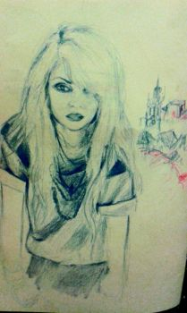Taylor Momsen and the skyline of London by ThatKidNamedAbii