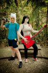Adventure Time with Finn and Marcy by OsirisMaru