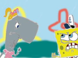 Angry Pearl And Spongebob by irfandy-simpson