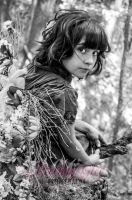 woodland faerie black and white by lostamongreality