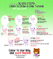 Seven Steps - Learn to Draw a Chibi Tutorial by HoneyDoodles