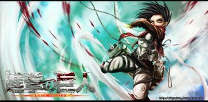 Attack On Titan_Mikasa_Fly by SegmaKun