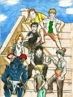 Gathering on the stairs by Takeuchi15