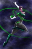 Green Lantern girl colors by Darkness33