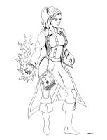 Female Battlemage Commish Lines by ESO2001