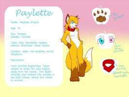 Paylette Ref Sheet by Paylette