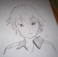 Anime Boy Drawing by charmanderfan7