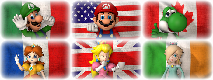 Mario flags fun by ZeFrenchM