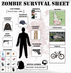 Zombie Survival Sheet (Update) by ShadesInSilence